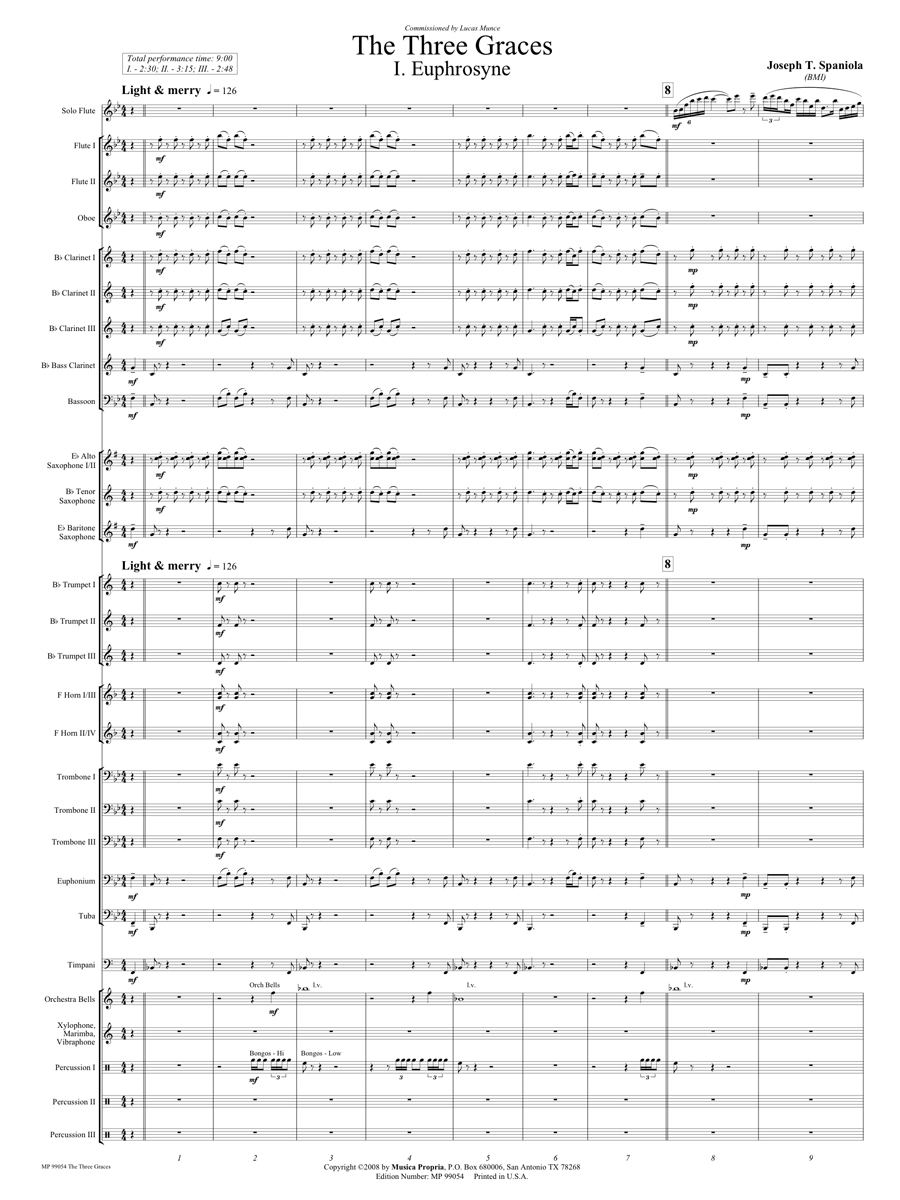 The Three Graces-Mvt. I Score Page 1