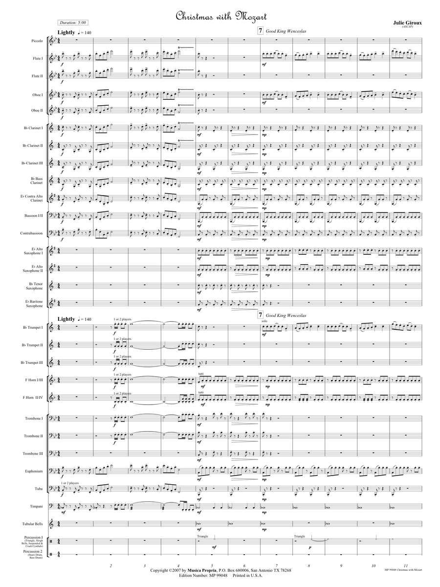 Christmas with Mozart Score Page 1