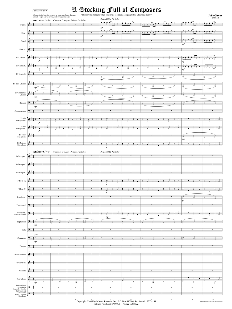 A Stocking Full of Composers Score Page 1