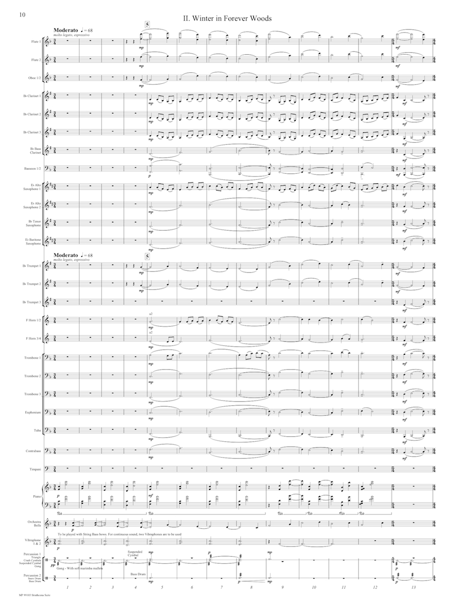 Strathcona Suite Mvt 2 Score Page 1
