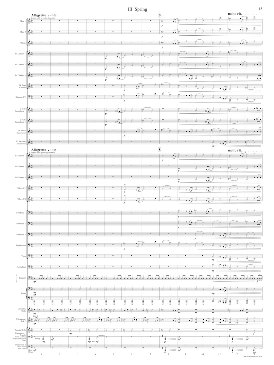 Strathcona Suite Mvt 3 Score Page 1